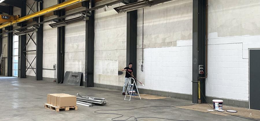 Renovierung der neuen Produktionshalle - Part I