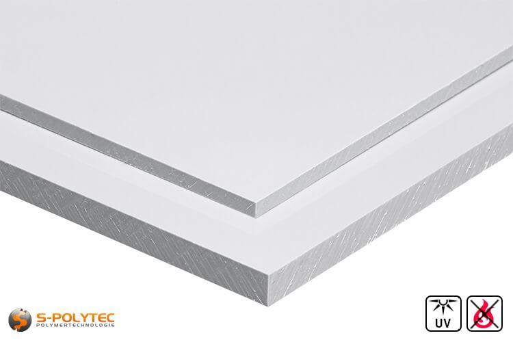 PVC Platten Weiß aus Hart-PVC (PVCU) in Stärken von 1mm - 4mm - Detailansicht