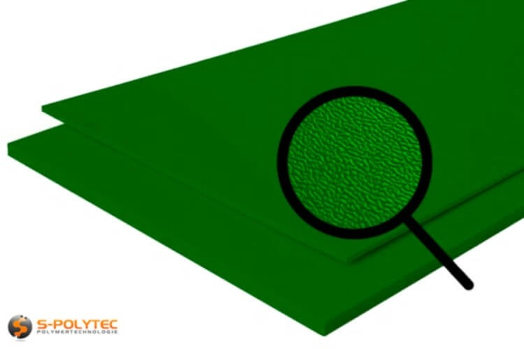 Polyethylen (PE) Platten grün (ähnlich RAL 6005) mit beidseitiger Narbung 19mm