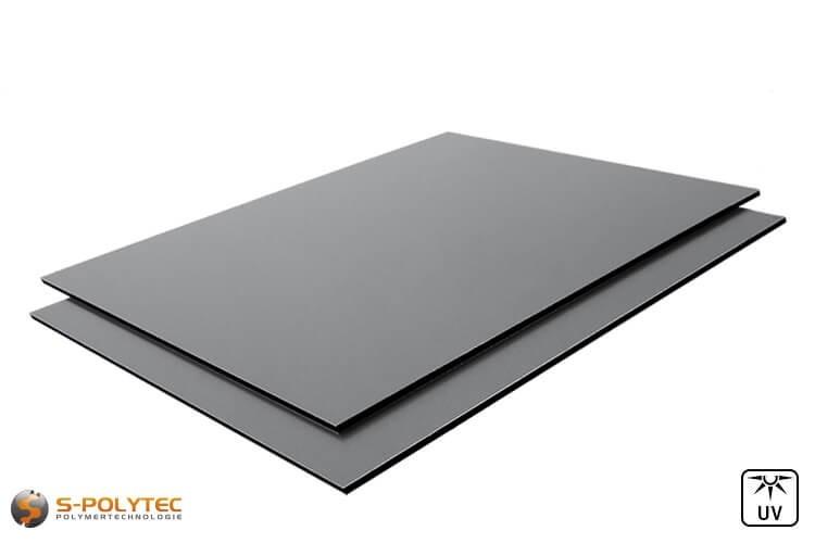 Alu Verbundplatten 3mm (auch Alu Dibond genannt) in Staubgrau auf Maß kaufen