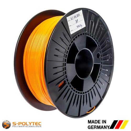 0,75kg Hochwertiges PLA-Filament orange (ähnlich RAL2005, Leuchtorange) für 3D-Drucker - Made in Germany