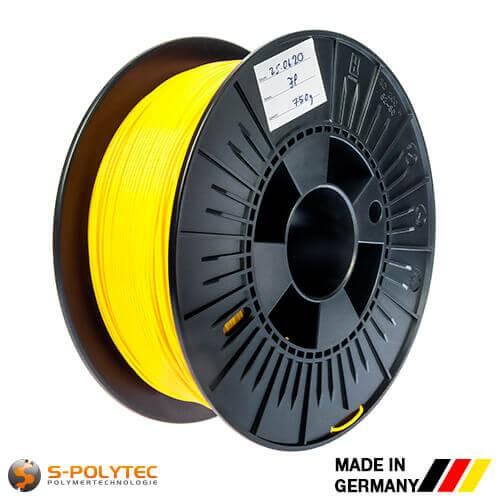 0.75kg Hochwertiges PLA-Filament Gelb für 3D-Drucker - Made in Germany