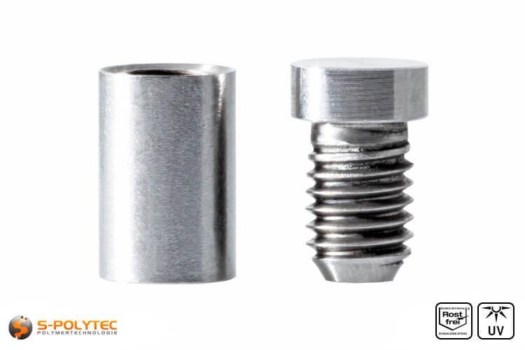 Distanzstück und Schraubenkopf Abstandshalter 10x15mm aus rostfreiem Stahl