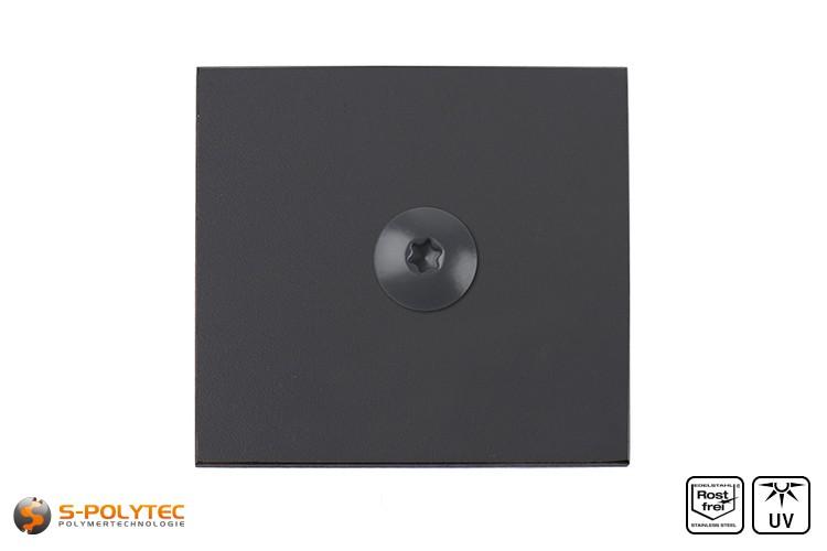 HPL Platte mit HPL Schraube Anhrazit