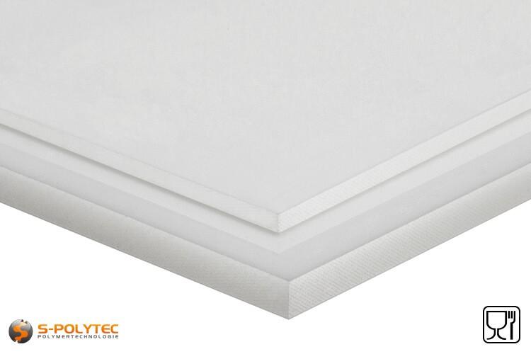 Polyethylen (PE-UHMW, PE-1000) Platten natur in Stärken von 8mm - 100mm im Standardformat - Detailansicht