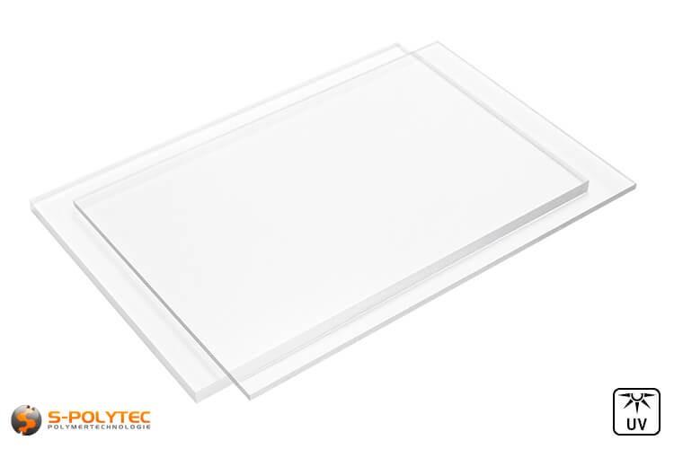 Acrylglas Platten im Zuschnitt (bekannt als Plexiglas, PMMA) transparent in Stärken von 2mm - 10mm nach Maß
