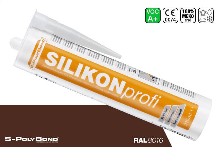 S-Polybond SILIKONprofi Alkoxy-Silikon Mahagonibraun (RAL 8016)