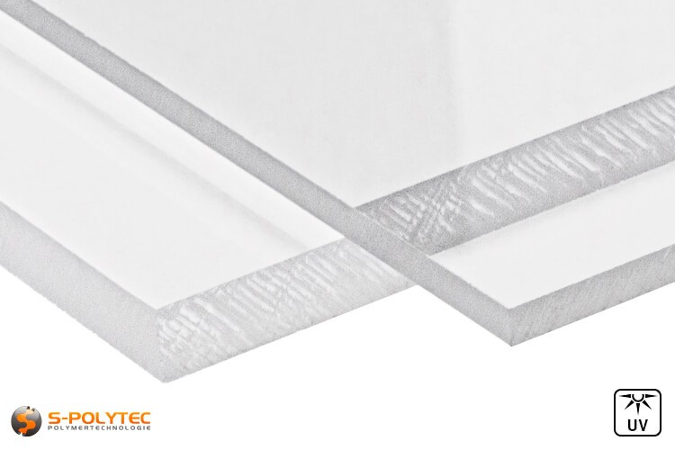 Acrylglas Zuschnitt  (bekannt als  Plexiglas, PMMA) transparent in Stärken von 2mm - 10mm - Detailansicht