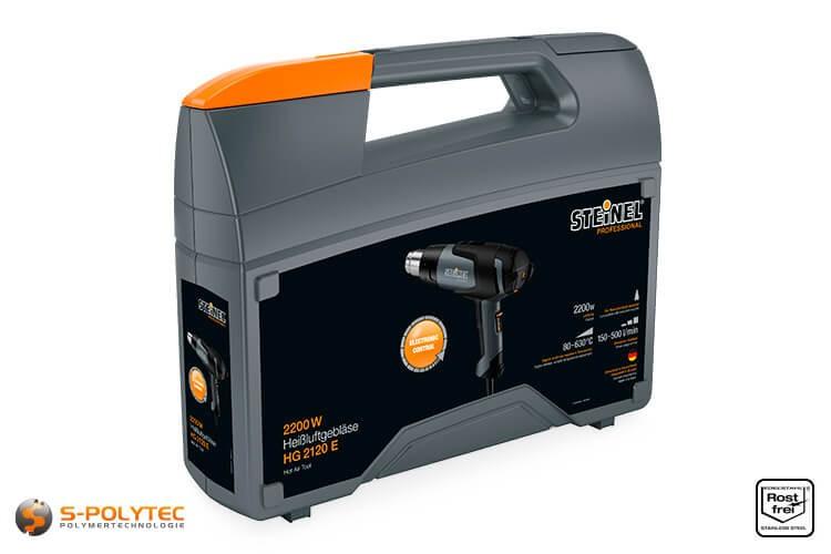 Heißluftpistole HG 2120 E mit steckbaren Düsen und Zubehör im Koffer als Komplett-Set