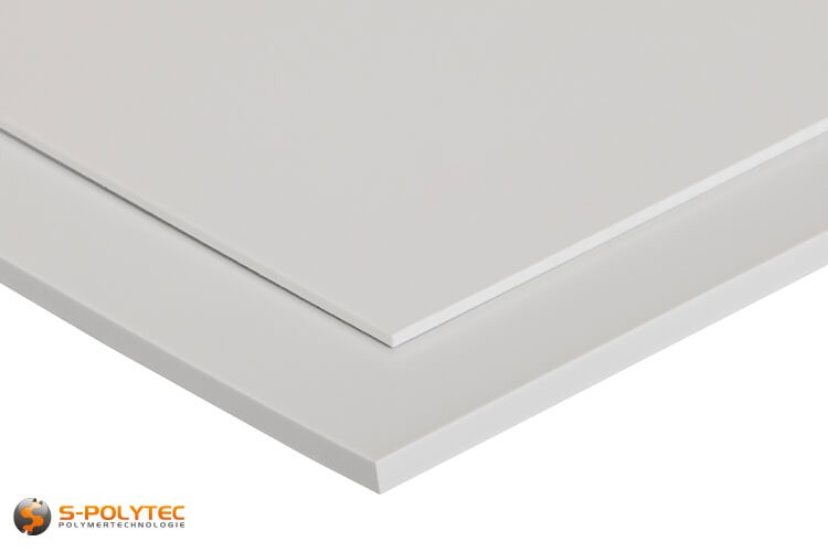 Polystyrol-Platten (PS) in weiß, matt in Stärken von 1 - 5mm im Zuschnitt - Detailansicht