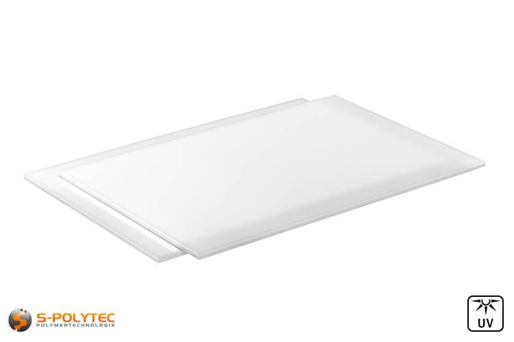 lobotec-acryl PLEXIGLAS Zuschnitt Acrylglas Zuschnitt 3-10mm wei/ß satiniert Snow 5mm, 400 x 400 mm