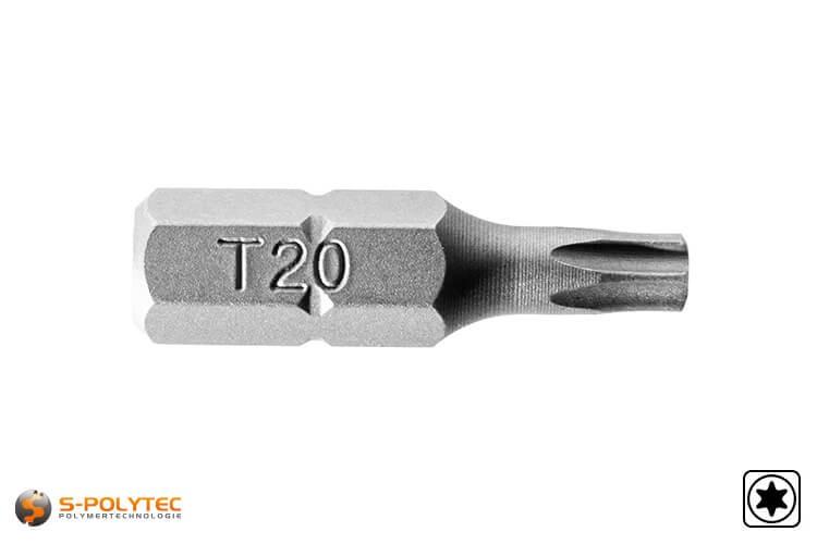 TORX Bit in der Größe T-20 zum Verschrauben unserer HPL-Fassadenschrauben