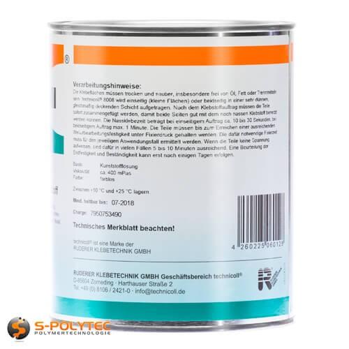Kunststoffklebstoff Technicoll 8008 für das Verkleben von Kunststoff mit Metall