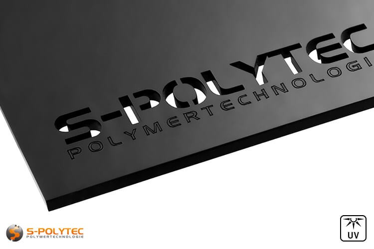 Laserzuschnitte aus schwarzem Acrylglas in 3mm Stärke
