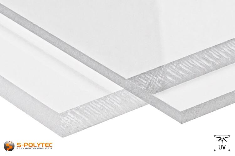 Polycarbonat Platten transparent im Zuschnitt von 3mm - 8mm Stärke