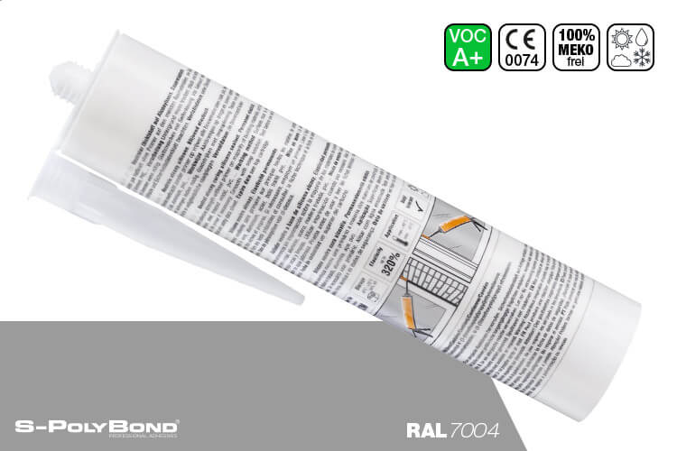 Signalgraues Silikon auf Alkoxy-Technologie von S-Polybond SILIKONprofi