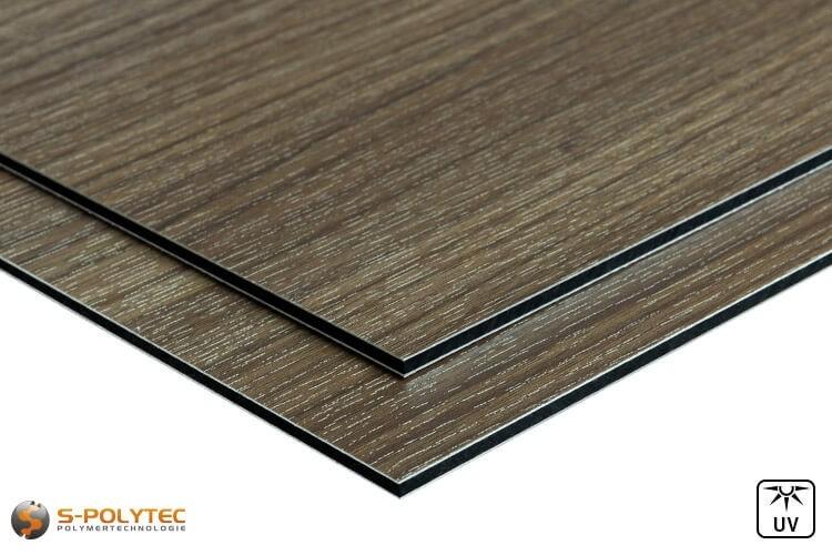 Alu-verbundplatten (Alu-dibond) in Holzdekor Esche auf Maß kaufen - Detailansicht