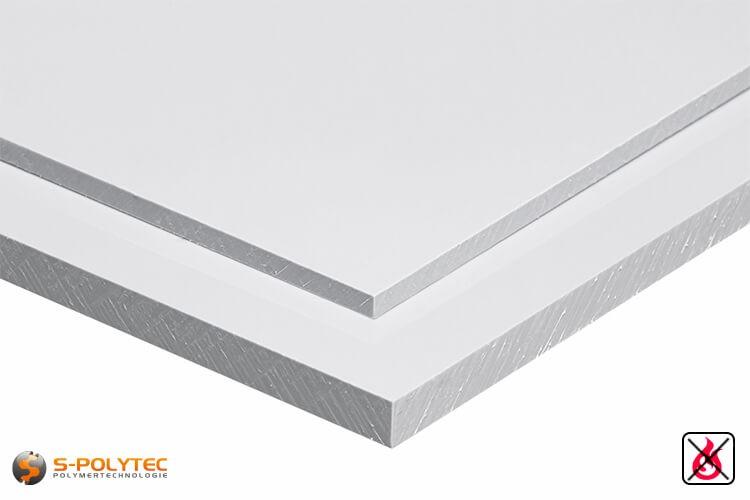 PVC Platten weiß aus Hart-PVC (PVCU) in Stärken von 1mm - 20mm - Detailansicht