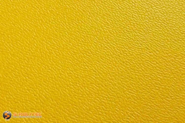 Polyethylen (PE) Platten gelb (ähnlich RAL 1004) mit beidseitiger Narbung 19mm - Detailansicht