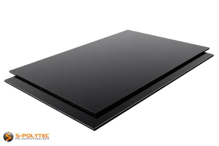 alu verbundplatten in schwarz 3mm st rke in hochwertiger qualit t auf s. Black Bedroom Furniture Sets. Home Design Ideas