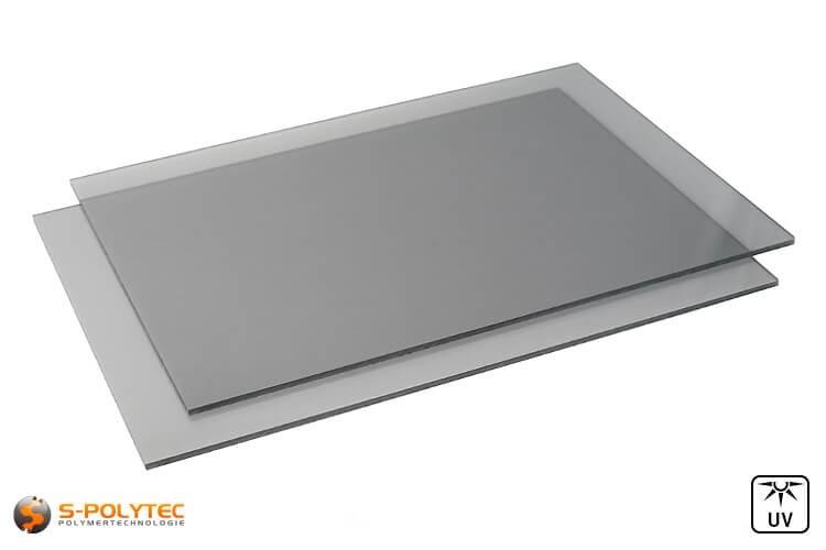 Polycarbonat Platten grau getönt im Zuschnitt von 4mm - 6mm Stärke