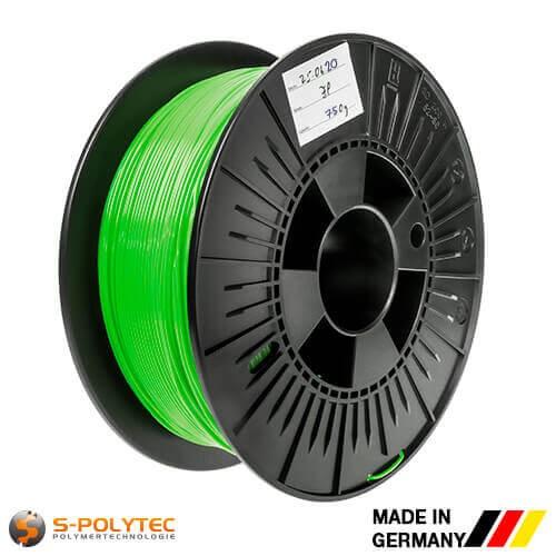 0,75kg Hochwertiges PLA-Filament hellgrün (ähnlich RAL6018, Gelbgrün) für 3D-Drucker - Made in Germany
