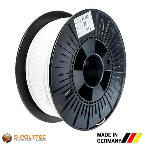 0,75kg Hochwertiges PLA-Filament weiß für 3D-Drucker - Made in Germany