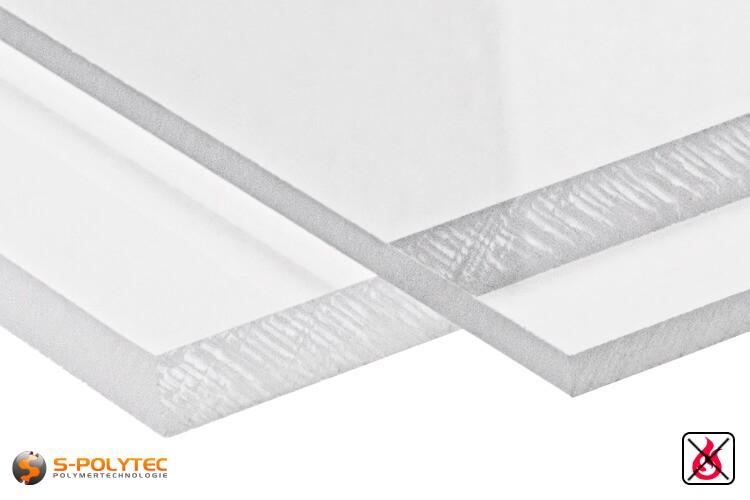 PVC Platten transparent aus Hart-PVC (PVCU) in Stärken von 1mm - 15mm - Detailansicht