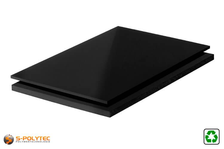 ABS Platten schwarz regenerat im Zuschnitt