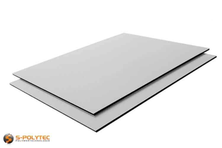 Alu-verbundplatten 3mm (Alu-dibond) in silber auf Maß kaufen