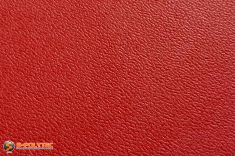 Polyethylen (PE) Platten rot (ähnlich RAL 3001) mit beidseitiger Narbung 19mm Zuschnitt - Detailansicht
