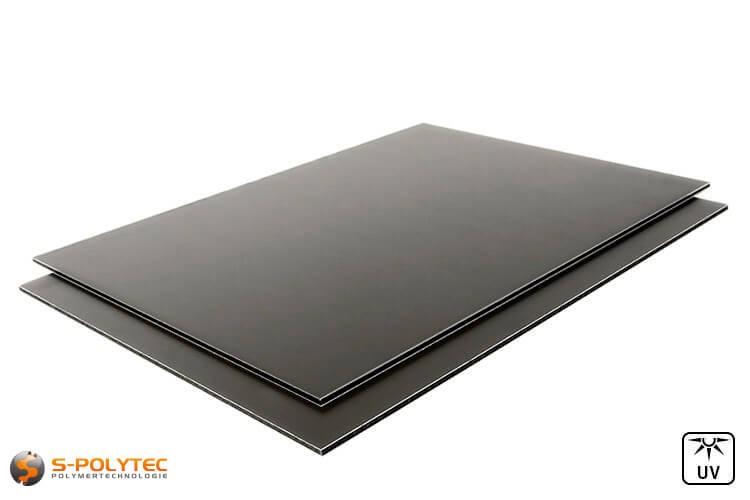 Alu Verbundplatten 3mm (auch Alu Dibond genannt) in Anthrazit auf Maß kaufen
