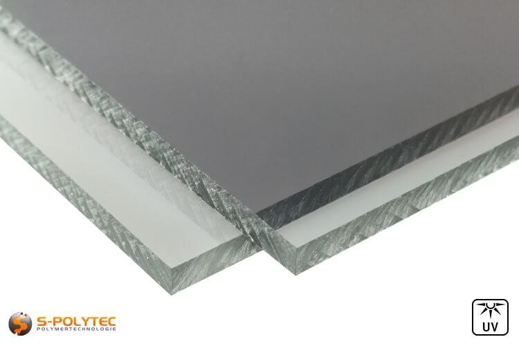 Unsere neuen grauen Polycarbonatplatten im Zuschnitt