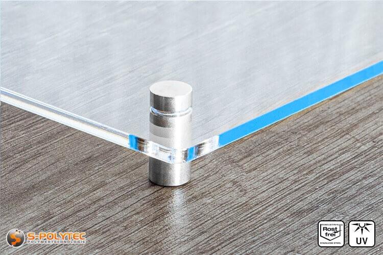 Schilderhalter 10x15mm aus Edelstahl mit Acrylglasschild