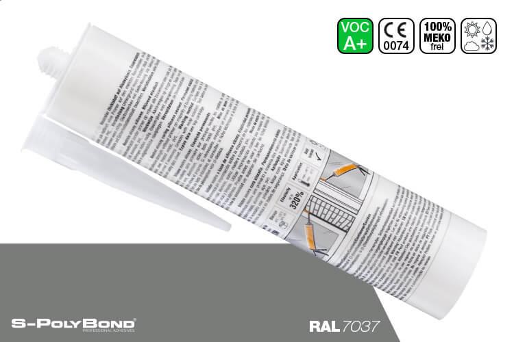 Staubgraues Silikon auf Alkoxy-Technologie von S-Polybond SILIKONprofi