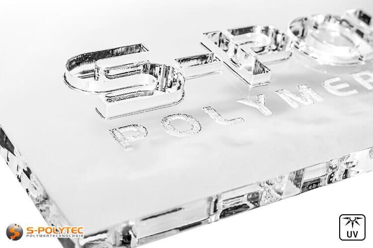 Laserteile aus Acrylglas (PMMA) in klar transparent