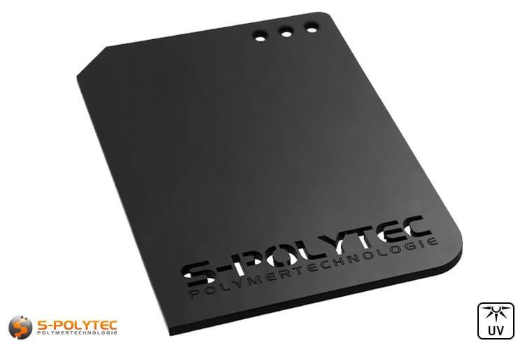 Acrylglasplatten in schwarz sind als individuelle Laserzuschnitte bis zu einer Gesamtgröße von 1500mm x 980mm erhältlich