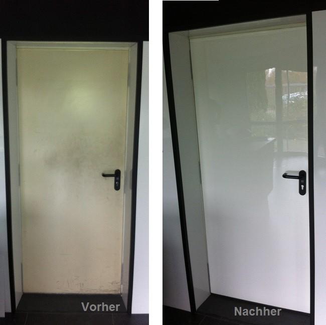 Gestaltung einer Tür mit DecoVitas Vorher/Nachher