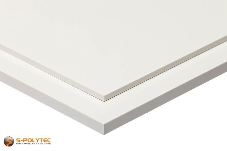 Schlagfeste ABS Platten in weiß in Stärken von 1mm - 10mm als Standardplatte 2,0 x 1,0 Meter - Detailansicht