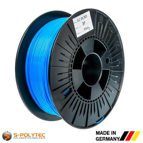 0,75kg Hochwertiges PLA-Filament blau (ähnlich RAL5005, Signalblau) für 3D-Drucker - Made in Germany
