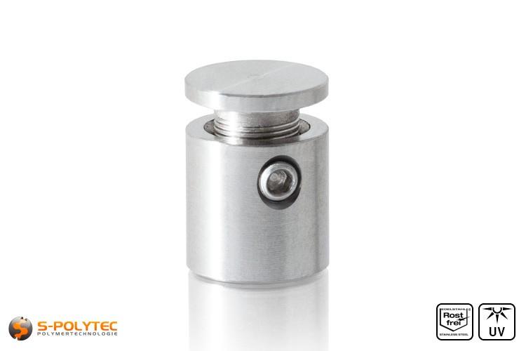 Wandabstandshalter 13x13mm mit Sicherungsschraube aus Edelstahl