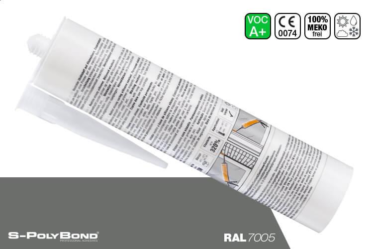 Mausgraues Silikon auf Alkoxy-Technologie von S-Polybond SILIKONprofi