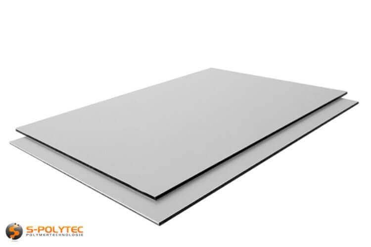 Alu-verbundplatten 3mm (Alu-dibond) in Edelstahl-Optik auf Maß kaufen