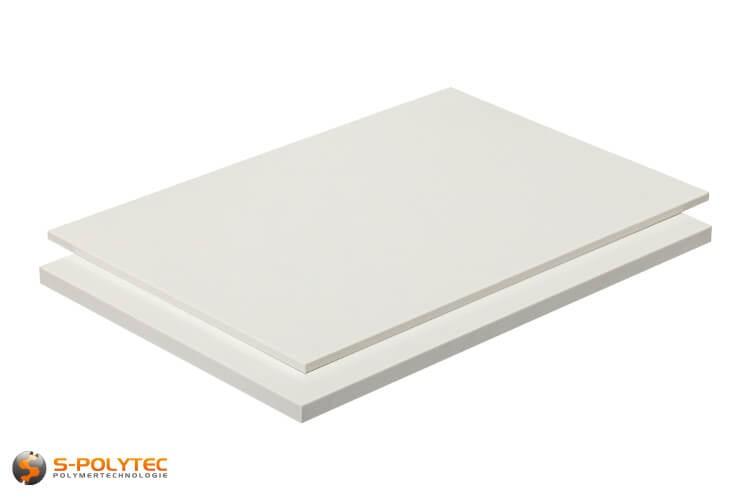 ABS Platten in weiß (ähnlich RAL9016, Verkehrsweiß) mit glatter Oberfläche in Stärken von 1mm - 10mm als Standardplatte 2,0 x 1,0 Meter