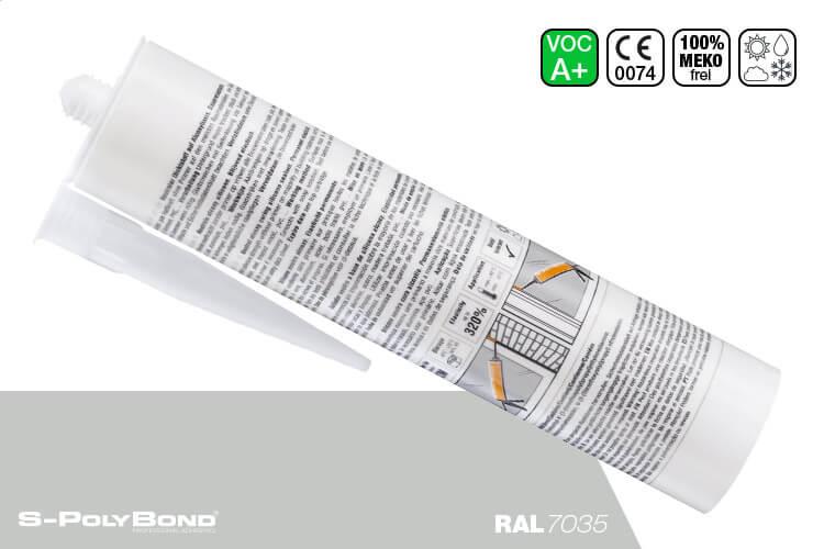 Lichtgraues Silikon auf Alkoxy-Technologie von S-Polybond SILIKONprofi