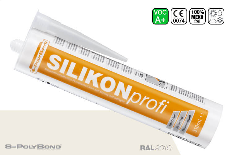Reinweißes Silikon auf Alkoxy-Technologie von S-Polybond SILIKONprofi