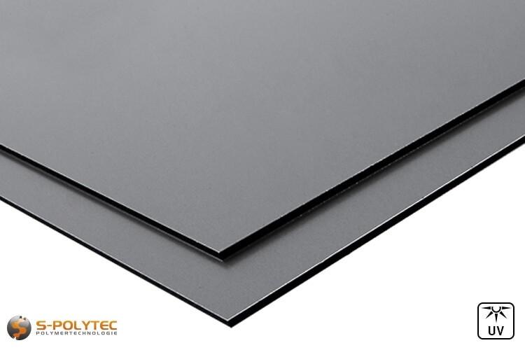 Aluverbundplatten (RAL 7037) Staubgrau günstig im Zuschnitt auf Maß kaufen - Detailansicht