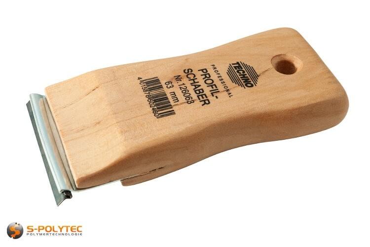 Profilschaber 35mm mit Austauschklinge zum Entgratung von Kunststoff