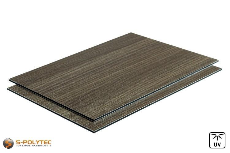 Alu-verbundplatten 3mm (Alu-dibond) in Holzdekor Esche auf Maß kaufen