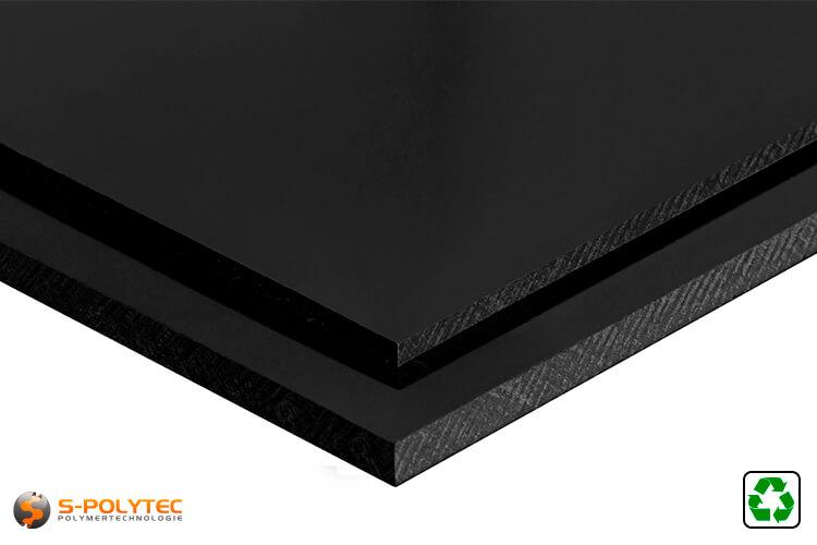 ABS Platten schwarz regenerat im Zuschnitt - Detailansicht